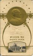 S 1437 - SANTINO - PIUS XI PONT. MAX - STAMPATO IN RILIEVO - Religione & Esoterismo