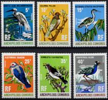 Comores, Comoros, 1971, Birds, Oiseaux, MNH, Michel 113-118