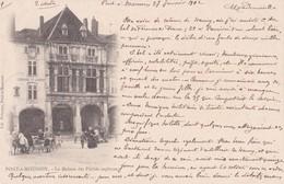 Carte Précurseur 1900 PONT A MOUSSON / LA MAISON DES PECHES CAPITAUX (librairie Hanser Et Très Animée) - Pont A Mousson