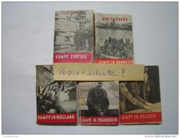 Winterhilfswerk (WHW) DRK (Deutsches Rotes Kreuz) Feldzüge 1940, Tieste 021-025, Kpl. Serie! - Germany