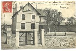 CPA La Jonchère, Haute-Vienne,école Des Filles, Circulée En 1909 - France