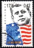 BELGIUM  1v  SPECIMEN MUESTRA MUSTER John Fitzgerald Kennedy JFK USA Flag