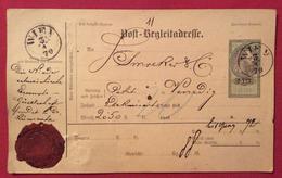 AUSTRIA INDIRIZZO POSTALE ACCOMPAGNATORIO  POST BEGLEITADRESSE 5 Kr  DA I WIEN    A VENEZIA IN DATA  3/1/1879 - Briefe U. Dokumente