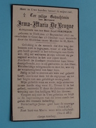 DP Irma-Maria De BRUYNE ( Jozef Vlejryck ) Tielt 23 Sept 1875 - Gent 23 Oct 1942 ( Zie Foto´s ) ! - Religión & Esoterismo
