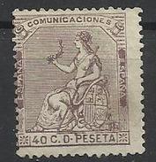Espagne N° 135 Neuf Sans Gomme 1873 - Ongebruikt