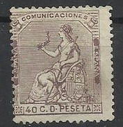 Espagne N° 135 Neuf Sans Gomme 1873 - 1873 1ª República