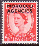MOROCCO AGENCIES 1956 SG 111 2½d MLH Wmk St.Edward's Crown British Currency - Morocco Agencies / Tangier (...-1958)