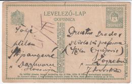 Hungary Croatia Postal Stationery Postcard Levelezo Lap Dopisnica Travelled 1918 Daruvar To Zagreb B170210