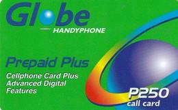 Philippines, 250 ₱ - Philippine Piso, Prepaid Plus (Green), 2 Scans.