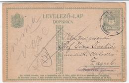 Hungary Croatia Postal Stationery Postcard Levelezo Lap Dopisnica Travelled 1918 Krapina To Zagreb B170210