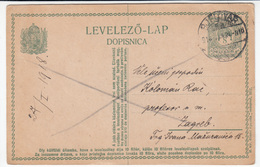 Hungary Croatia Postal Stationery Postcard Levelezo Lap Dopisnica Travelled 1918 Bjelovar To Zagreb B170210