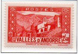 ANDORRE N°85 - Neuf * * Luxe