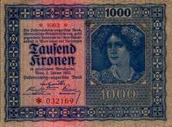 AUTRICHE 1000 KRONEN Du 2-1-1922 Pick 78  AU/SPL - Autriche