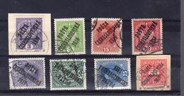 1919 Les Urcharges 1919 Sur Timbre Autrichien  8 Valeurs ( Plus Rare En Oblmitéré Que Neuf ) - Czechoslovakia