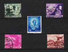 1950 - ROMANIA  Mi No 1196/1200   EMINESCU