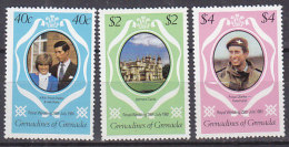PGL DC0572 - GRENADA GRENADINES Yv N°393/95 ** ROYAL WEDDING - Grenada (1974-...)