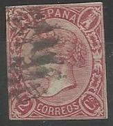 Espagne N° 65 Oblitéré 1865 - Oblitérés