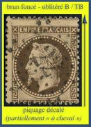 N° 30 NAPOLÉON SECOND EMPIRE LAURÉ 1868 - BRUN FONCÉ - OBLITÉRÉ TB - PIQUAGE DÉCALÉ - ÉTOILE DE PARIS N° 22 - - 1863-1870 Napoleon III With Laurels