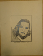 Dessin Au Crayon  -  Illustrateur -   Judy Garland    20/3 /1951       (9) - Dessins