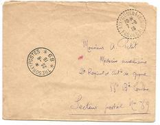 OBLITERATION SUR LETTRE EN FRANCHISE DE AIX-NOULETTE (PAS DE CALAIS) DU 7/6/1915 - Postmark Collection (Covers)