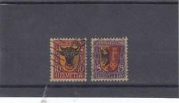 Suisse - O  -  Pro Juventute - Année 1918 - YT 168/169