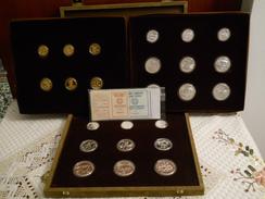 GREECE OFFICIAL SET SILVER & GOLD PROOF 1981 1982 Pan-european Games ATHENS 1982 - Grecia
