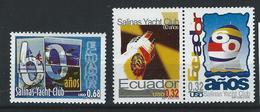 EC - 2000 - 2489-91 -  The 60th Anniversary Of Salinas Yacht Club    - ** -MNH - POSTFRISCH - Equateur
