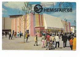 HEMISFAIR  SAN ANTONIO TEXAS  1968 VIAGGIATA FP - Events