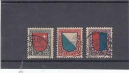 Suisse - O  -  Pro Juventute - Année 1920 - YT 176/178