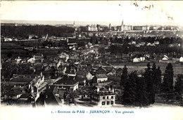 Environs De PAU JURANCON Vue Générale Cpa Circulée En 1910 Bon état Voir Scans