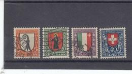 Suisse - O  -  Pro Juventute - Année 1923 - YT 192/195
