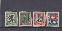 Suisse - Neufs**  -  Pro Juventute - Année 1925 - YT 218/221