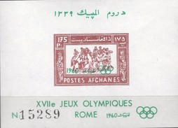 Olympiade Rom/Asien-Sportspiele 1960 Afghanistan Block 6 ** 14€ Reiten Hojita Sport Bloc Olympics Sheet Bf Afghanes