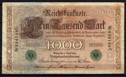 Allemagne - Germany 21-04-1910 Billet 1000 Mark Pick 45a Very Fine (2) - 1000 Mark