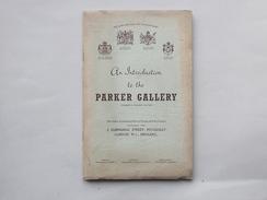 AN INTRODUCTION TO THE PARKER GALLERY: Livret Années 50 Présentation Histoire De Cette Galerie - Culture