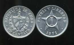 CUBA  1 Centavo 1971 - Cuba