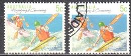 Australia 1990 - Sports - Mi.1182 A+F Perf 14:14¼ +13¼:13¾  - Used - Used Stamps