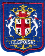 Thematiques Ecussons Blasons Armoiries Pays France Region 44 Loire Atlantique Le Croisic - Ecussons Tissu
