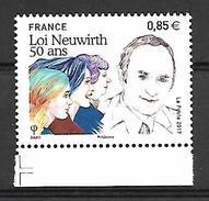 France 2017 - Yv N° 5121 ** - Loi Neuwirth 50 Ans - France
