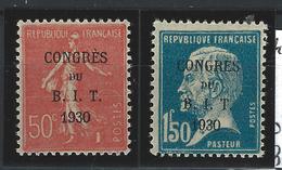 264** Et 265**   CONGRÈS Du B.I.T 1930 - Nuevos