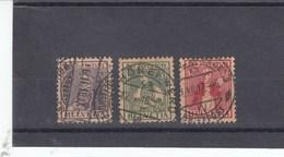 Suisse - O  -  Pro Juventute - Année 1917 - YT 154/156