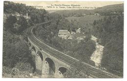 CPA La Haute-Vienne Illustrée, Eymoutiers , Vallée De La Vienne Et Usine électrique, Pont Des 21 Piles - Eymoutiers