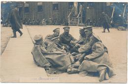 Carte Photo Militaire - Camp De Cassel, Allemagne - Prisonniers Russes ? Jouant Aux Cartes - WW1, 2 Scans - Guerre 1914-18