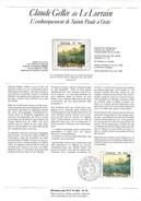NOTICE PTT 1982 CLAUDE GELLEE DIT LE LORRAIN - Documents Of Postal Services