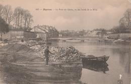 BAYONNE (64). Le Pont Du Génie, Vu Des Bords De La Nive. Pêcheurs à La Ligne - Bayonne