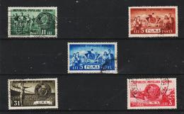 1950 - ROMANIA  Mi No 1242/1246