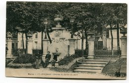 CPA  51 : EPERNAY  Entrée Jardin Du Jard  VOIR  DESCRIPTIF  §§§ - Epernay