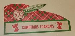Ancien CHAPEAU Publicitaire Avec Plume : COMPTOIRS FRANCAIS - TOUR De FRANCE - Casquettes & Bobs