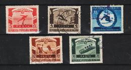 1951 - ROMANIA  Mi No 1247/1251