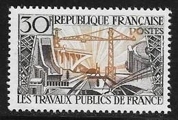N° 1114   FRANCE  -  NEUF  -  TRAVAUX PUBLICS  -  1957 - France